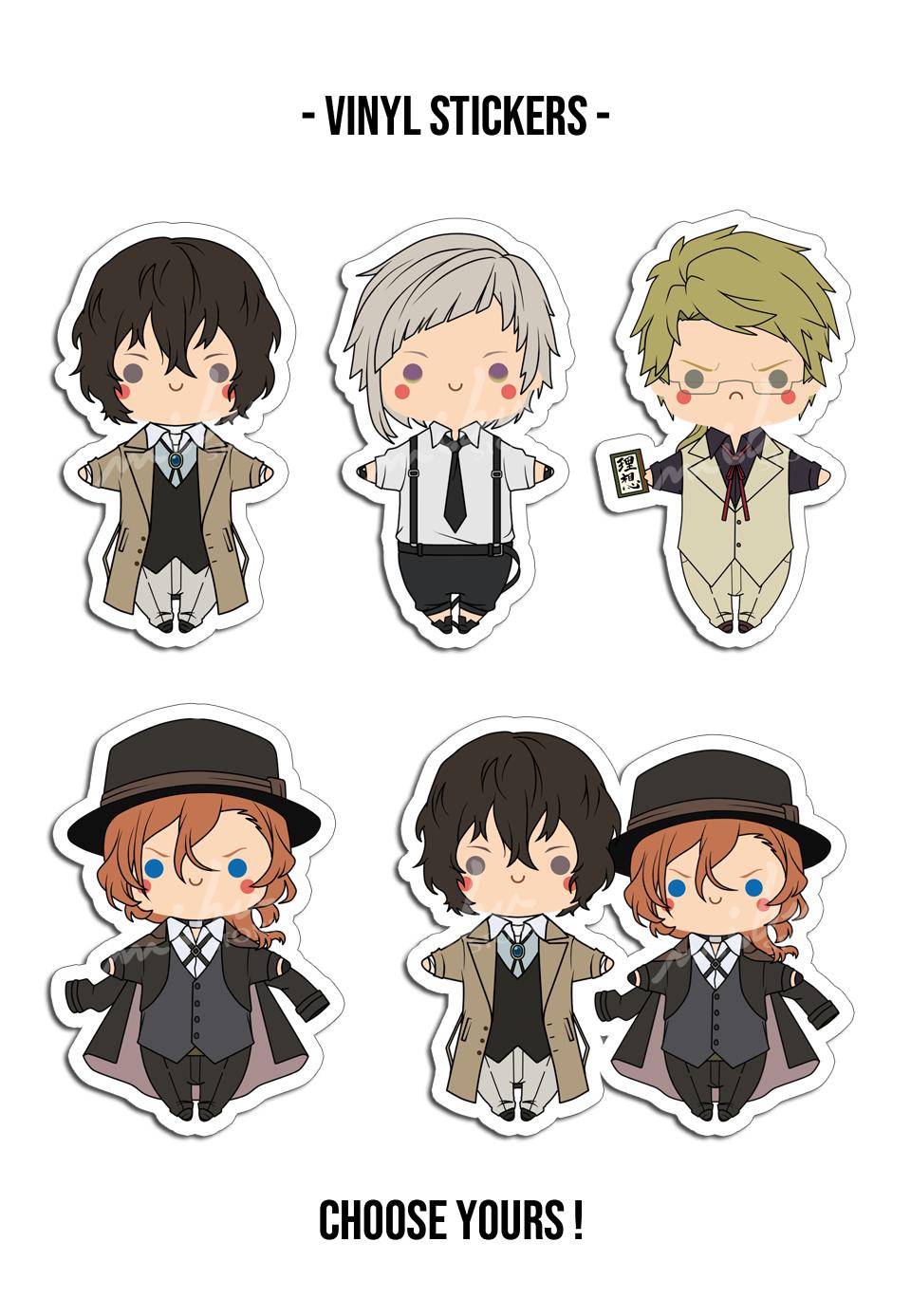 Bsd Vinyl Stickers Anime Stickers Print Stickers Stickers