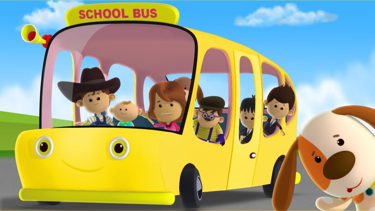 Yellow Wheels On The Bus Nursery Rhymes Baby Songs For Kids