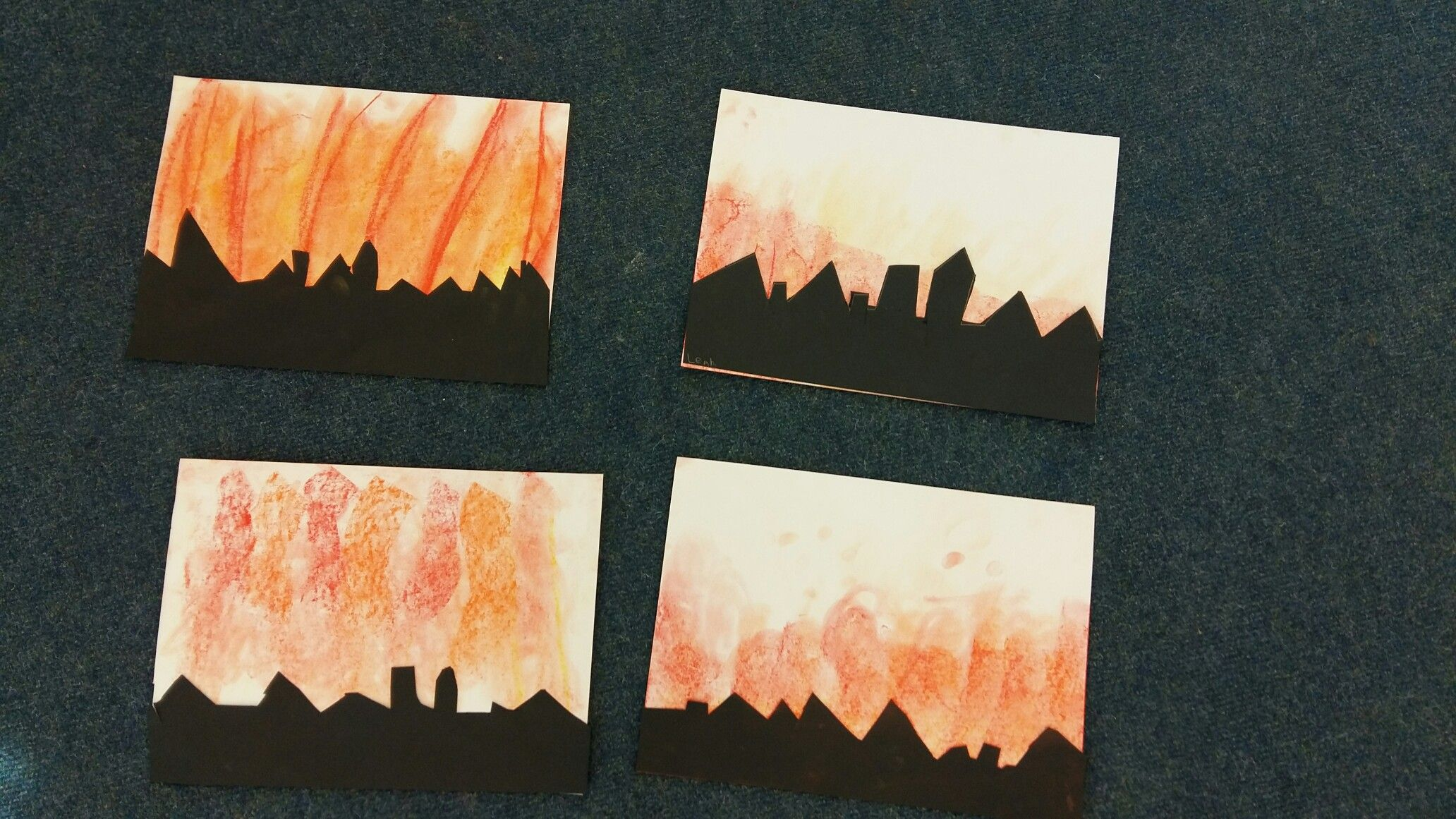 Great Fire Of London Silhouettes Teacher Training Art