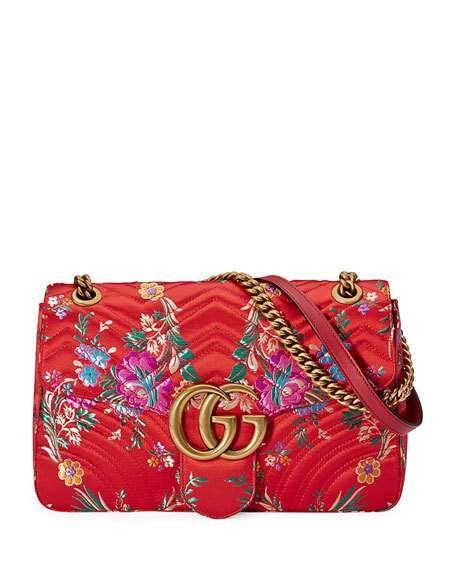 a97cb613b1d5 GG Marmont Medium Jacquard Shoulder Bag | Bags Wishlist