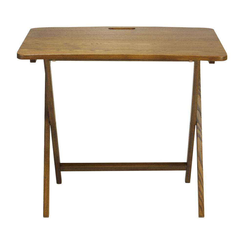 Magnificent American Trails Arizona Red Oak Folding Table Warm Brown Beatyapartments Chair Design Images Beatyapartmentscom