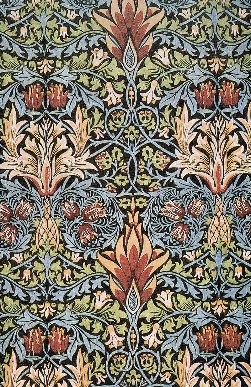 Morris Snakeshead Printed Textile 1876 V 2 William Morris