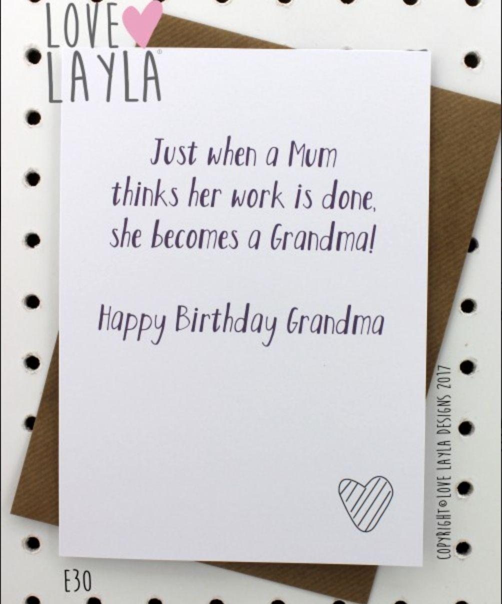 Grandma Birthday Cards Lovely Hard Working Grandma