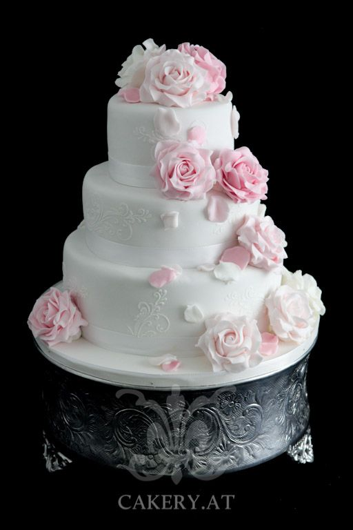 Hochzeitstorte Pink Roses Wedding Cakes Pinterest Wedding