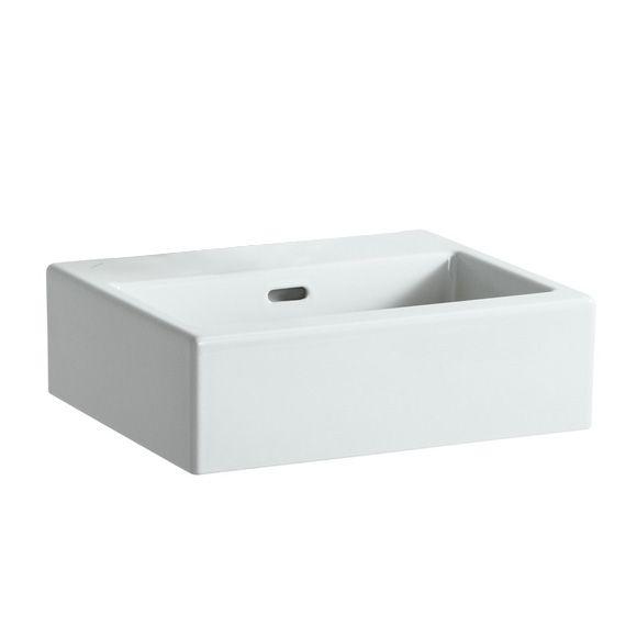 Laufen Living City Handwaschbecken, Unterseite geschliffen weiß ... | {Waschbecken eckig ohne hahnloch 85}