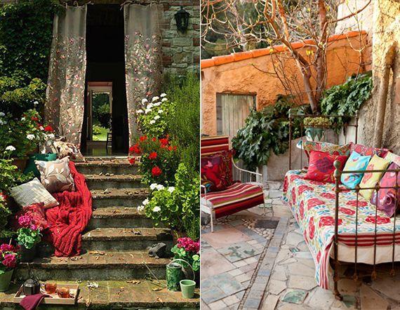 Das Heutige Thema U0027u0027Mein Schöner Garten Im Boho Styleu0027u0027 Zielt Den Anderen  Look Der Gartengestaltung .