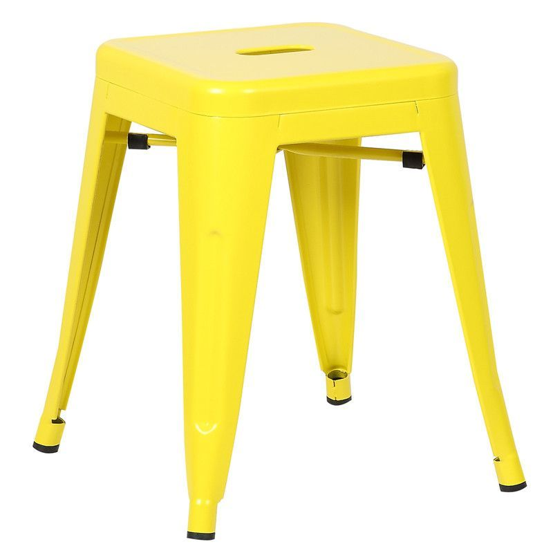 "EdgeMod EM-195-YEL-X4 Trattoria 18"" Stool in Yellow (Set of 4)"