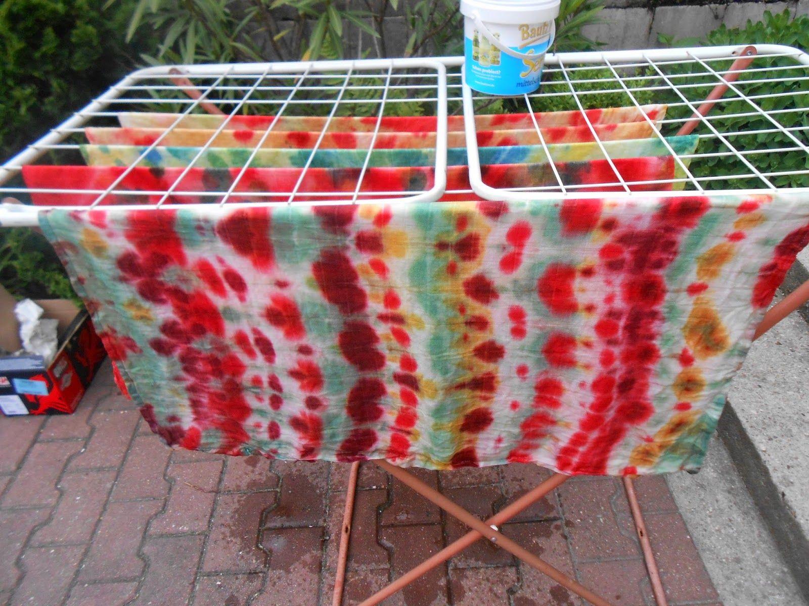 DIY Tutorial Anleitung kostenlos gratis Batik batiken Tücher färben ...