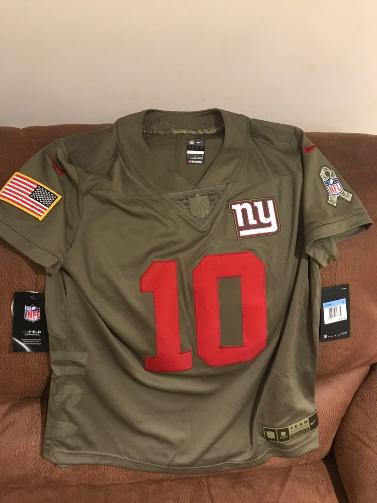 Nike Eli Manning New York Giants Salute To Service NFL Jersey NWT Size M  Women  70a8e4ded