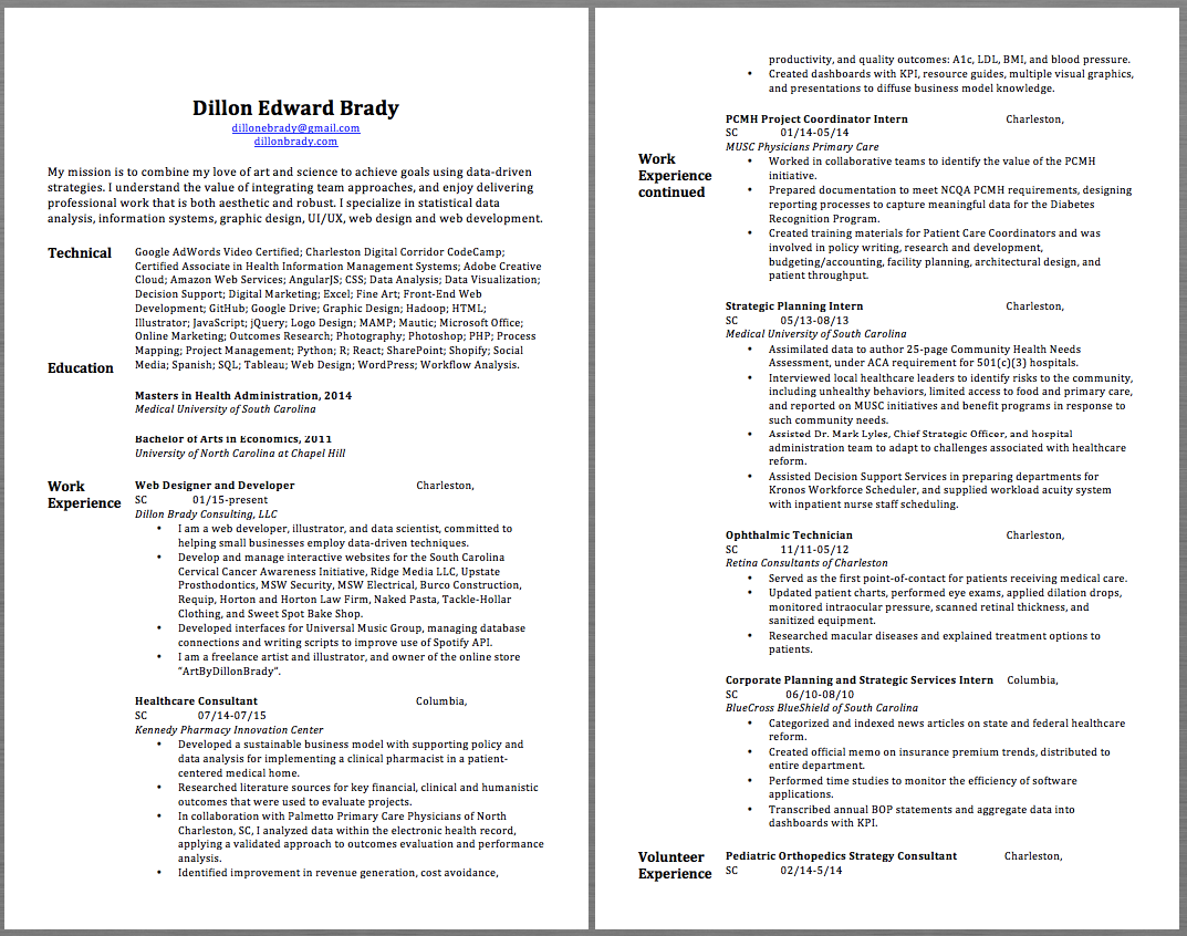 Ophthalmic Technician Resume Samples Dillon Edward Brady