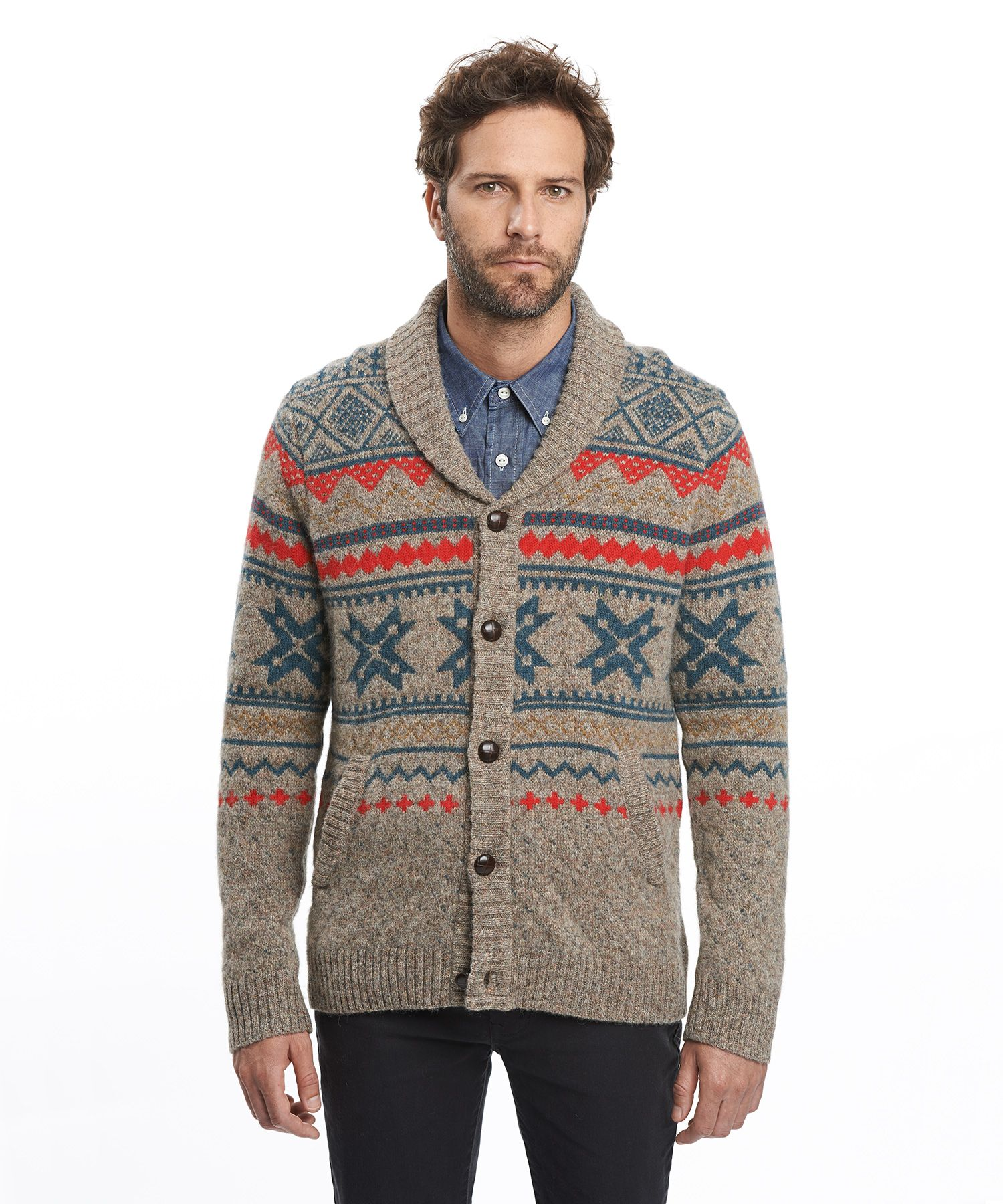 Men's Penna Fairisle Cardigan Sweater by WOOLRICH® The Original ...