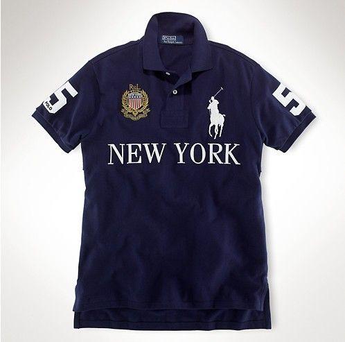 half off 66e06 27bf0 Maglietta Polo Ralph Lauren Uomo City Polo Camicia Big Pony ...