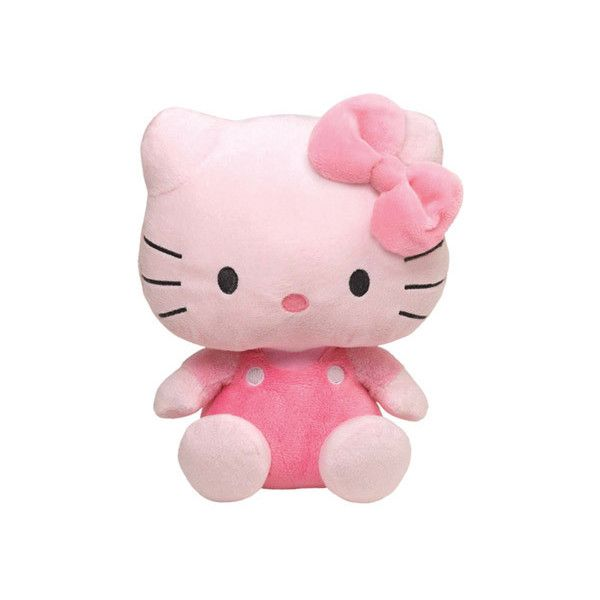 Ty Hello Kitty Small All Pink Plush Toy (40 BRL) ❤ liked on Polyvore featuring fillers - pink, plushies, bow and filler