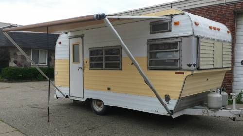 Very Cute Clean 1968 Fan 16 Camper Trailer 3650 Vintage