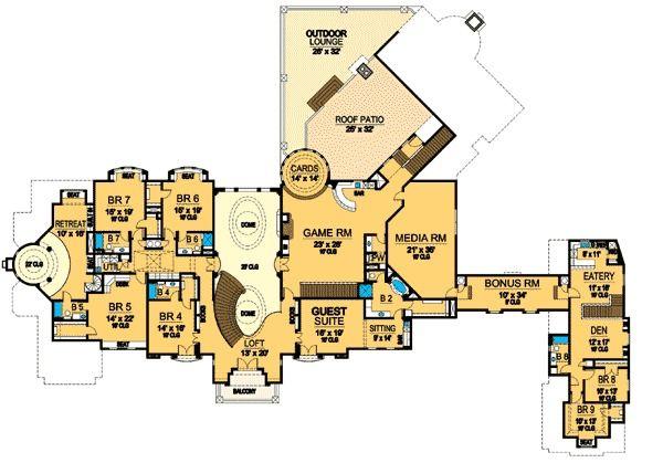 Plan 36134tx Your Own Versailles Luxury Floor Plans Luxury House Plans Country Style House Plans