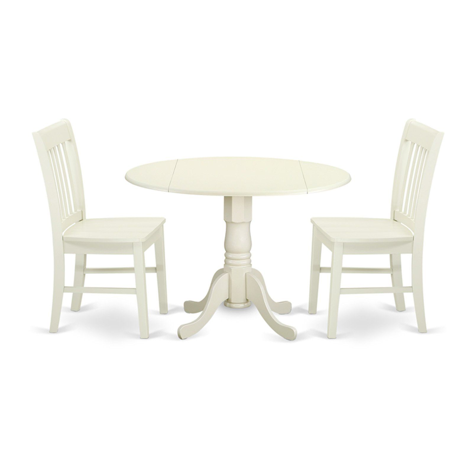 East West Furniture Dublin Dlno3 Three Piece Drop Leaf Dining Set In 2019 Circular Dining Table Dining Room Table Dining Table