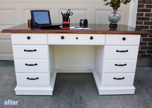 Desk Makeovers Redo Mirrored Dresser Like This Maybe