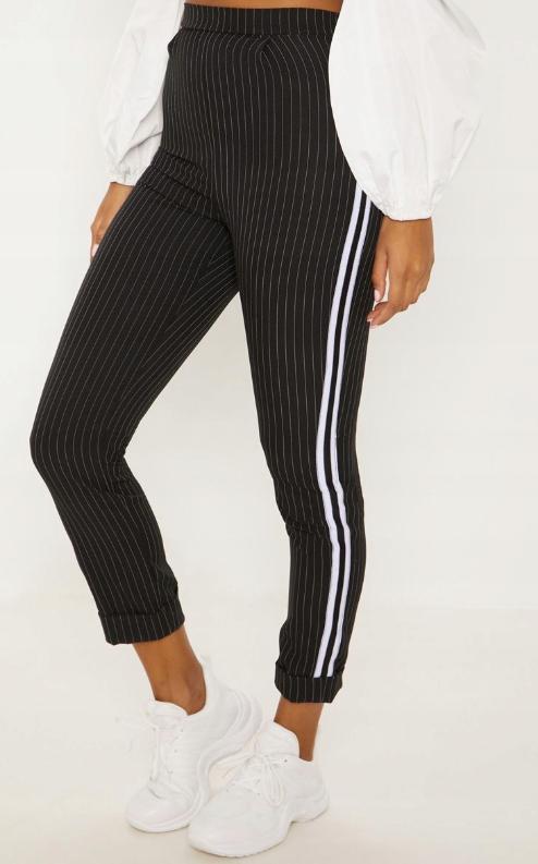 23b028 Prettylittlething Pxb Spodnie Paski S 8224412825 Oficjalne Archiwum Allegro Fashion Striped Pants