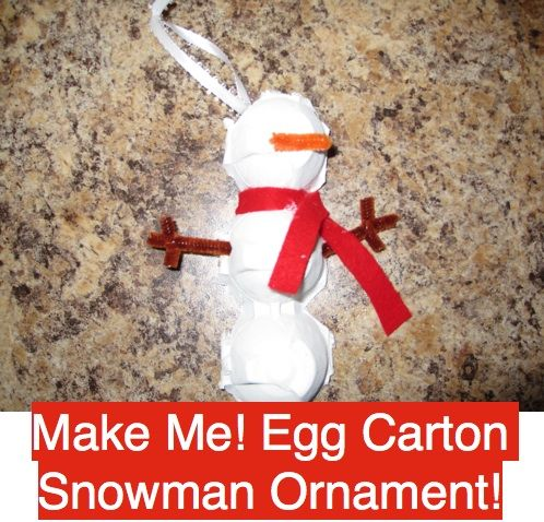 Antidotes for Mom: Felt Gingerbread Ornaments (ok, an Egg Carton Snowman Ornament too!)