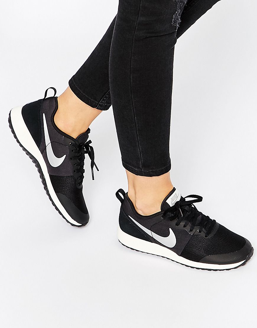 nike flex zapatillas fitness mujer negro plata
