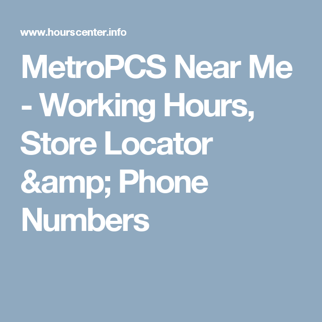 Best Metropcs Near Me Working Hours Store Locator Phone 400 x 300