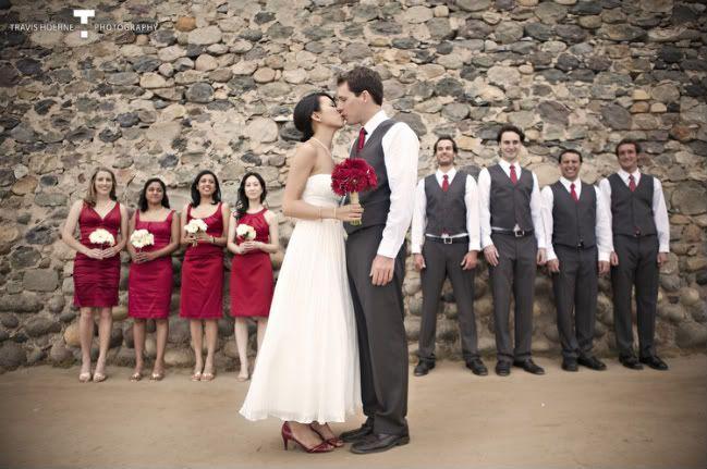 Burgundy Dress Grey Bouquet Bridesmaids Google Search