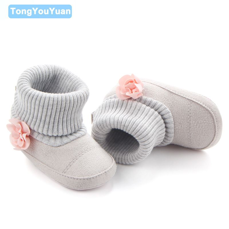 f432c64a6 New Arrival Flower Inlay Special Design Baby Toddler Prewalker Baby Girl  Boots Shoes For Girls 0