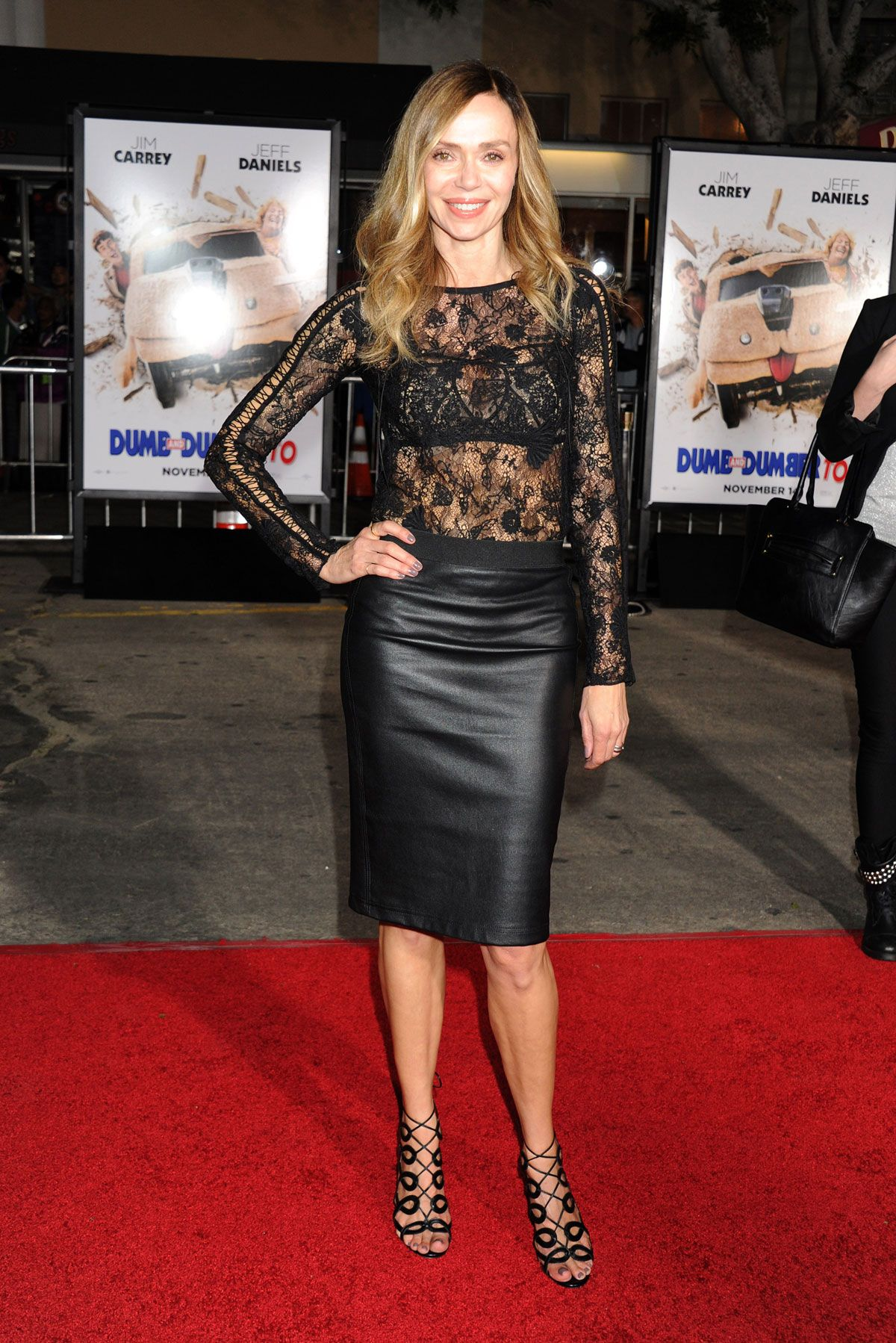 Vanessa Angel Attends Los Angeles Premiere Of Dumb And