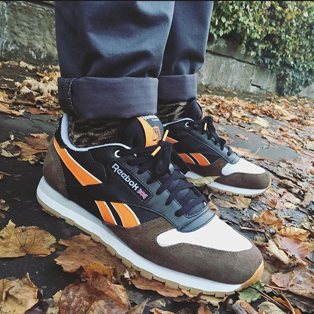 4ff30e8cacaf Highs   Lows x Reebok Classic Leather  Autumn Leaves     guttynut  WDYWT  for on-feet photos  WDYWTgrid for outfit lay down photos  mensfashion  kotd   Reebok ...