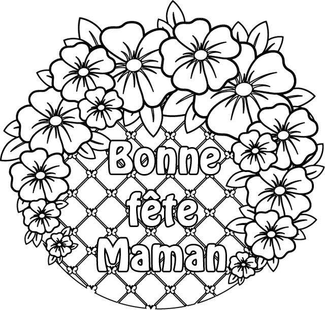 Coloriage Bonne Fête Maman Coloriage Fête Des Mères Carte Fête Des Mères Créations Pour Fête Des Mères