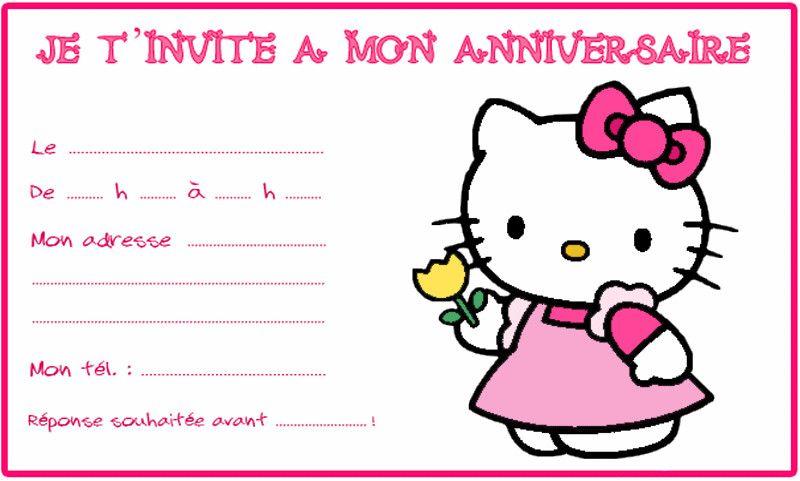 Carte D'anniversaire Hello Kitty Gratuite À Imprimer Inspirational Modele Carte Anniversaire ...