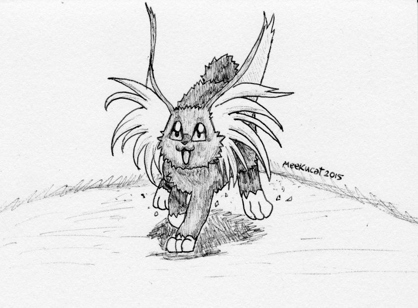 drawing of ryo ohki