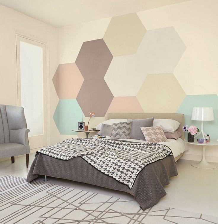 Kreative Wandgestaltung Mit Farbe: Wandgestaltung Im Schlafzimmer