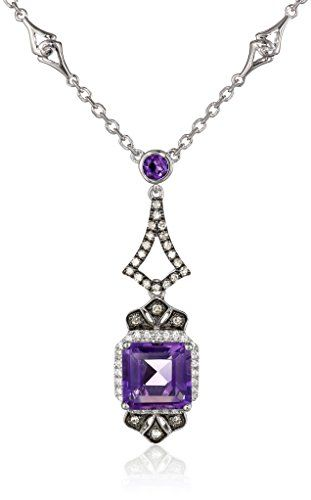 "Badgley Mischka Fine Jewelry Sterling Silver Amethyst, White and Champagne Colored Diamonds Drop-Pendant Necklace, 18"" Badgley Mischka Fine Jewelry http://www.amazon.com/dp/B00CM32KM4/ref=cm_sw_r_pi_dp_xQp1ub1BQZNZH"
