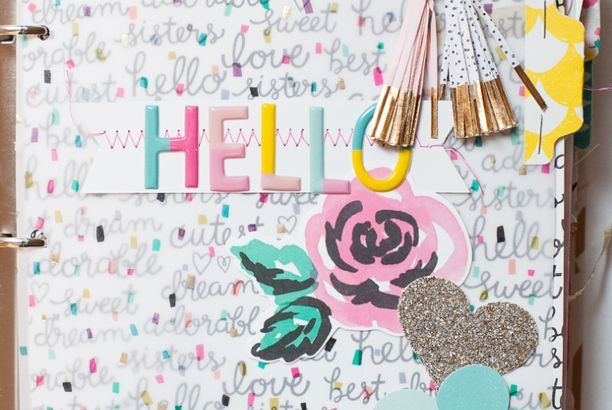 Create a Mini Album using the Cute Girl Collection