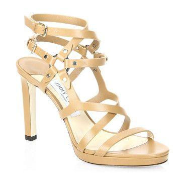 JIMMY CHOO Monica 100 Cwz Leather Sandals