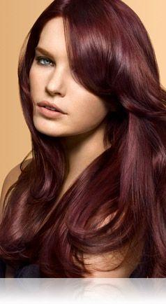 Warm Burgundy Hair Color