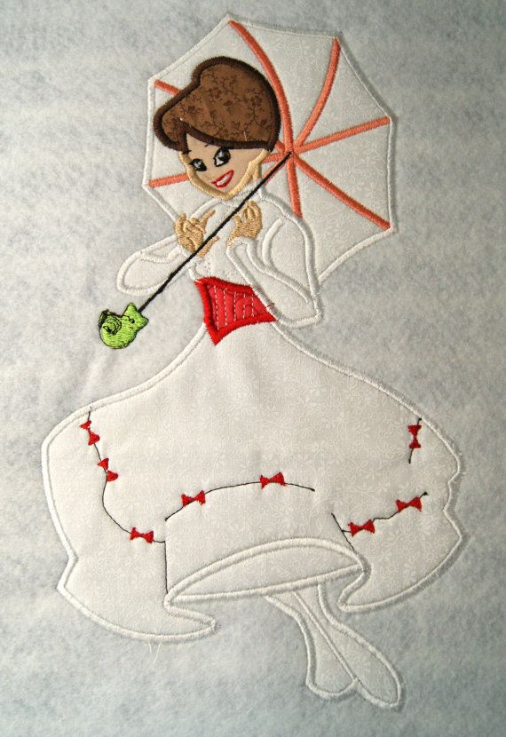 Nanny Mary Applique Embroidery Design by KiraLynB on Etsy, $5.00