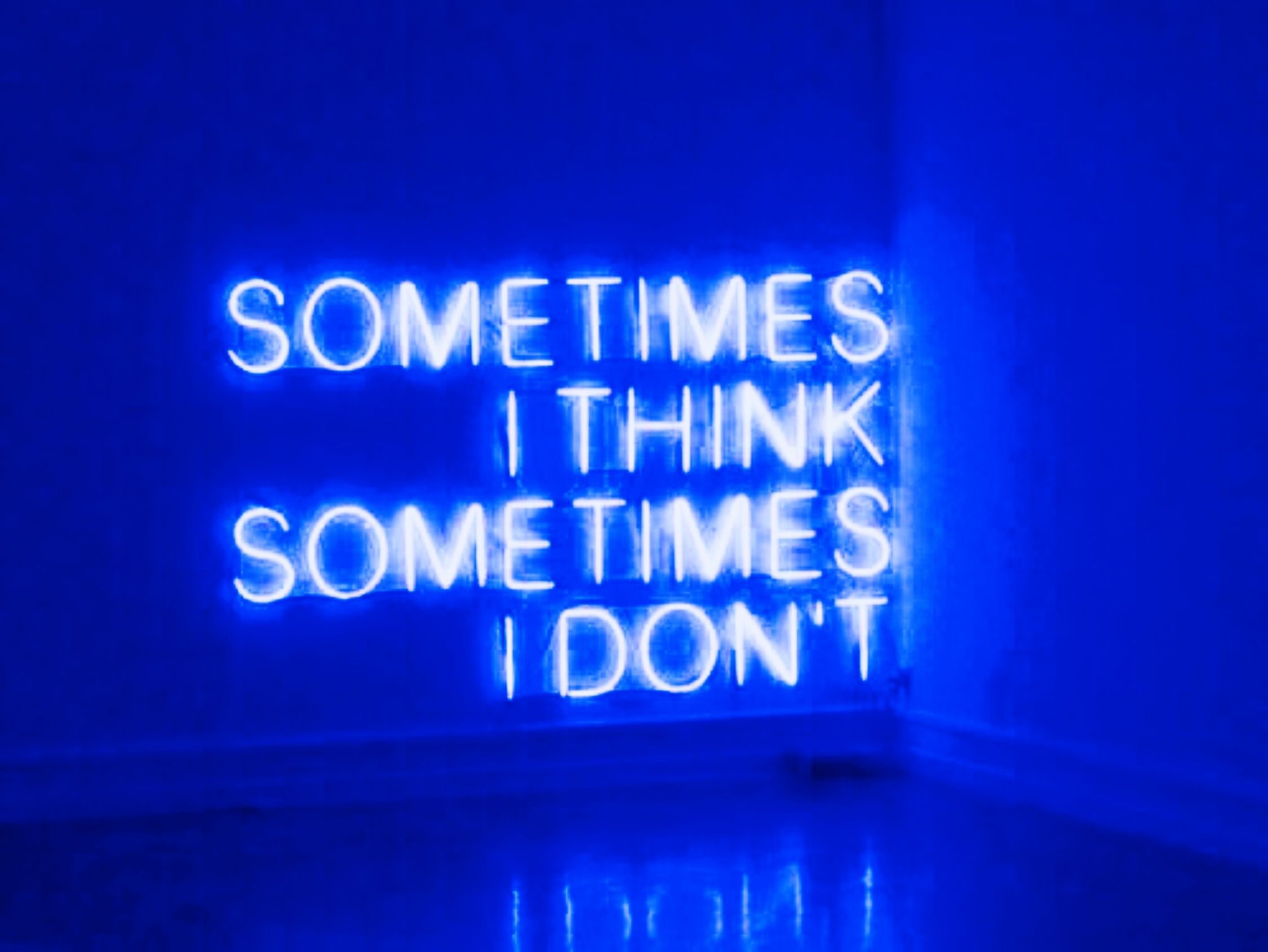 Blue Neon Aesthetic Quotes
