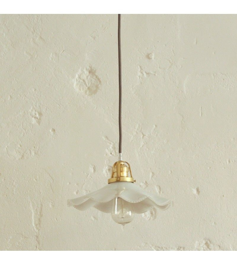 lampe suspension abat jour vintage