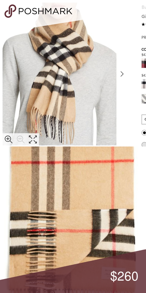 753353d0b8898 AUTHENTIC! NWT Burberry Giant-Check Cashmere Scarf Brand new