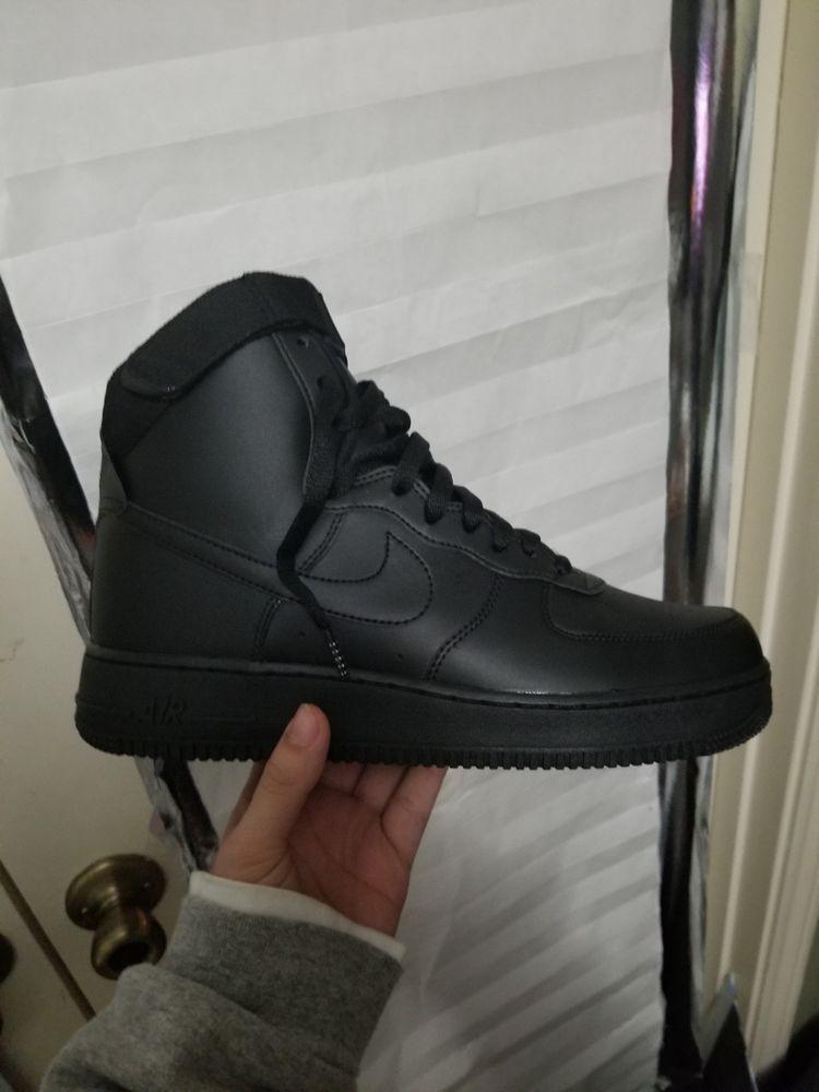 quality design 49263 3974e NIKE AIR FORCE 1 ONE HIGH '07 All Black 315121-032 Mens SHoes SZ 9.5 ...