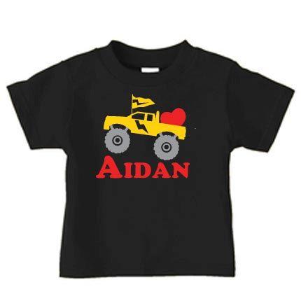 Personalized Valentine S Day Monster Truck T Shirt Valentine Truck Shirt For Boys 17 99 Via Etsy Planet Shirts Truck Shirts Valentines Shirt