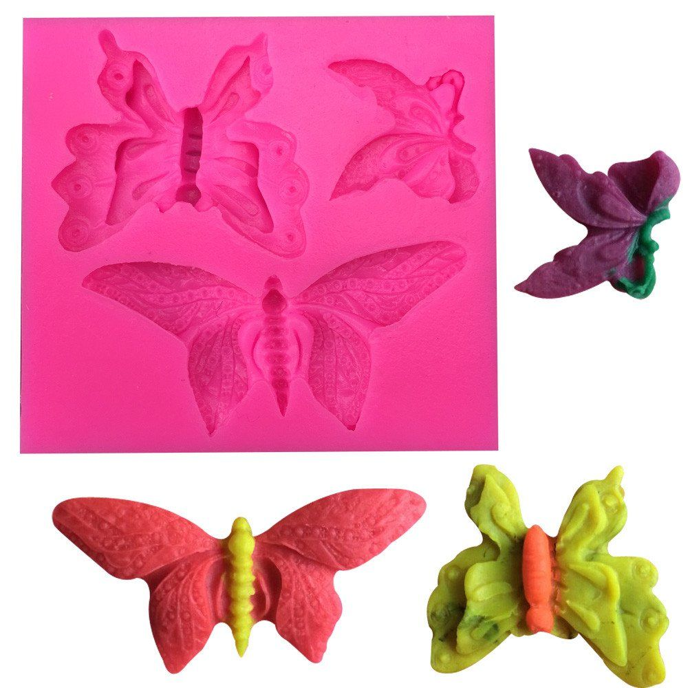 Three Design Butterfly Silicone Mold
