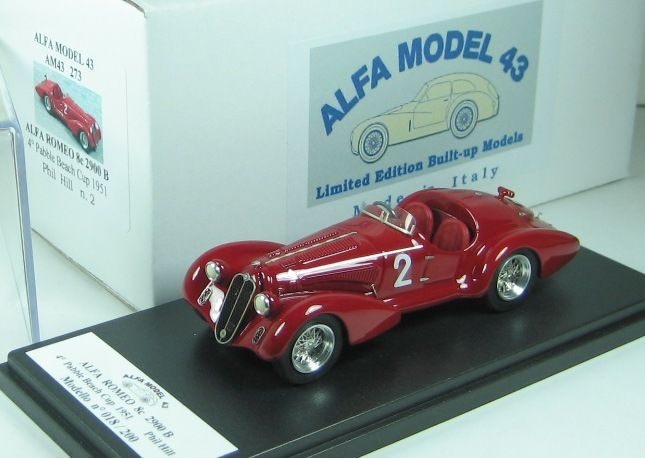 Alfa Romeo 8c 2900B Spyder Touring  4th Pebble Beach Cup 1951 - Phil Hill - Alfa Model 43