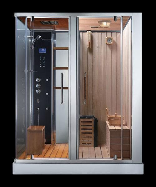 Ads 180 steam shower sauna combination sauna shower for Master bathroom with sauna