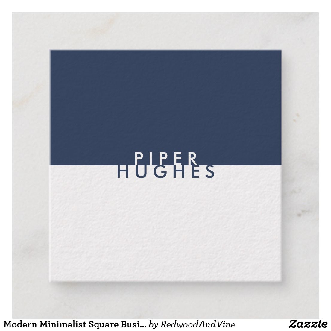 Modern Minimalist Square Business Cards Navy Printing Business Cards Square Business Cards Professional Business Cards