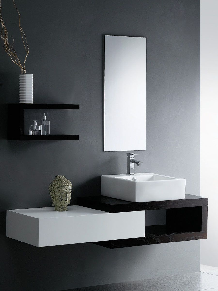 Modern Bathroom Vanity Melbourne great shapes. might need some more texture for my taste though