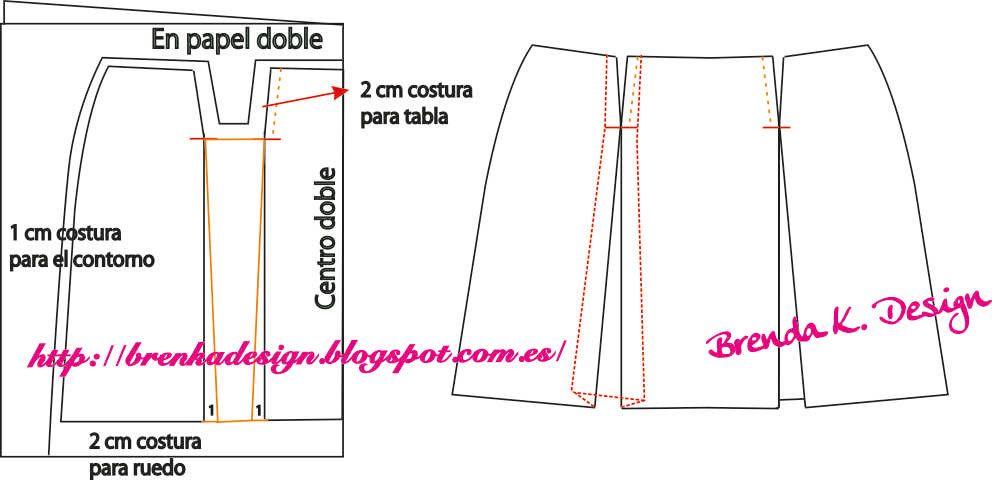 d93259804d7 Brenka Diseño+Moda  MODA Y PATRONES  FALDA CON TABLONES ENCONTRADOS ...