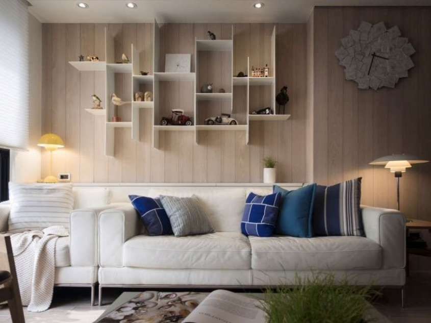 Parete Dietro Divano Grigio : Come arredare la parete del divano livingroom